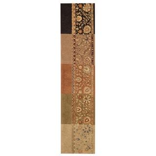Herat Oriental Indo Hand-tufted Tibetan Multicolor Wool Rug (2'3 x 10')