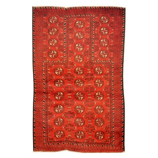Herat Oriental Afghan Hand-knotted Tribal Balouchi Wool Rug (2'9 x 4'4)