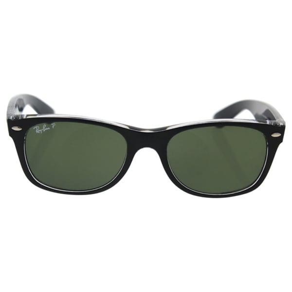 eb12b72c87 Shop Ray-Ban Men s RB2132 Black Plastic Square Polarized Sunglasses ...