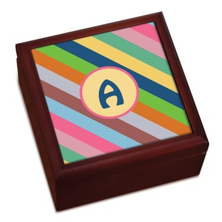Colorful Stripes Personalized Keepsake Box