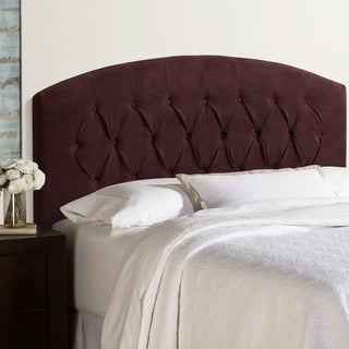 Humble + Haute Halifax Queen Size Plum Curved Upholstered Headboard