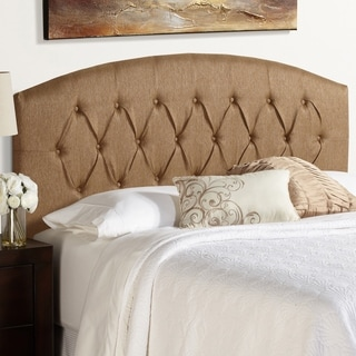 Humble + Haute Halifax Queen Size Golden Brown Curved Upholstered Headboard
