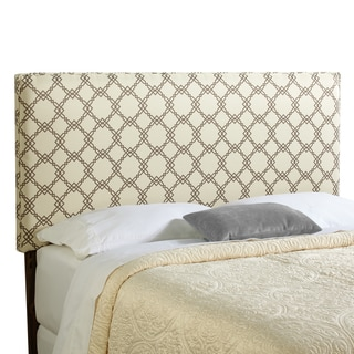 Humble + Haute Bingham King Size Ivory/ Taupe Upholstered Headboard