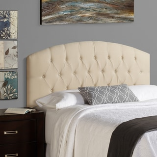 Humble + Haute Halifax Full Size Ivory 100-percent Linen Curved Upholstered Headboard