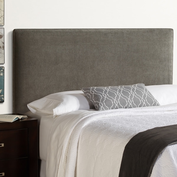humble haute bingham king size grey velvet upholstered headboard free shipping today. Black Bedroom Furniture Sets. Home Design Ideas