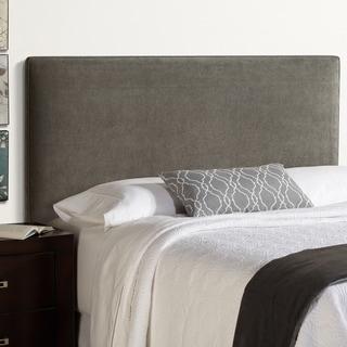 Humble + Haute Bingham King Size Grey Velvet Upholstered Headboard