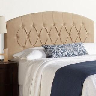 Humble + Haute Halifax Sand Velvet Curved Upholstered Headboard