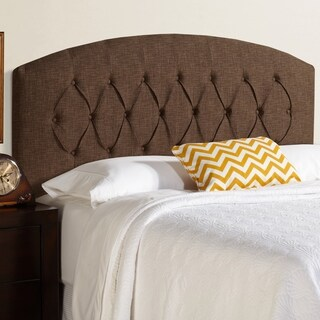 Humble + Haute Halifax Dark Chocolate Curved Upholstered Headboard