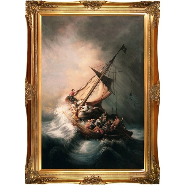 Rembrandt van rijn the storm on the sea of galilee hand painted rembrandt van rijn x27the storm on the sea of galileex27 publicscrutiny