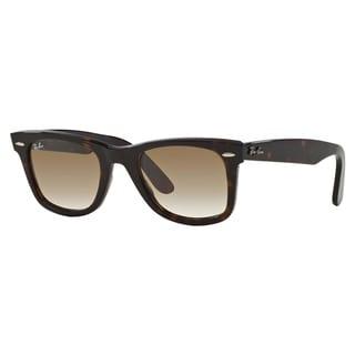 Ray-Ban Wayfarer Classic RB2140 Unisex Tortoise Frame Green Lens Sunglasses