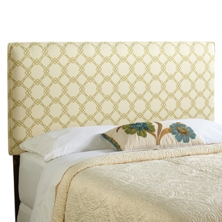 Humble + Haute Bingham King Size Ivory/ Green Upholstered Headboard