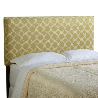 Humble + Haute Bingham King Size Green/ Ivory Upholstered Headboard