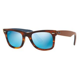 Ray-Ban Women's RB2140 Tortoise Plastic Square Sunglasses
