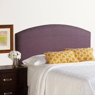 Humble + Haute Bingham Full Size Iris 100-percent Linen Curved Upholstered Headboard