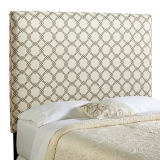 Humble + Haute Bingham Tall Full Size Ivory/ Taupe Upholstered Headboard