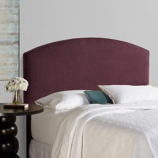 Humble + Haute Bingham Queen Size Plum Curved Upholstered Headboard