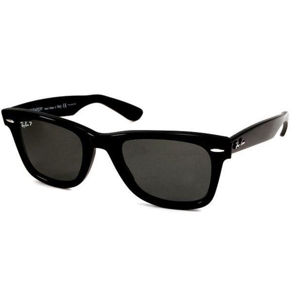 Ray-Ban RB2140 Original Wayfarer Classic Polarized Sunglasses Black  Green  Classic 54mm - Black fefb4ec2177bc