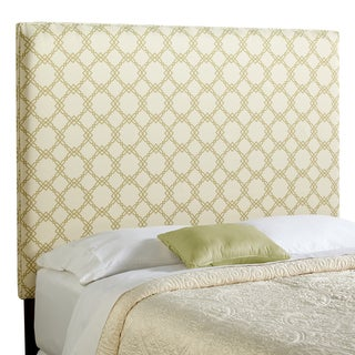 Humble + Haute Bingham Tall Full Size Ivory/ Green Upholstered Headboard