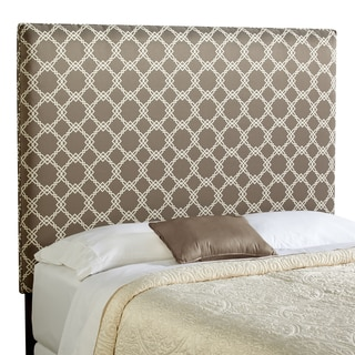 Humble + Haute Bingham Tall Full Size Taupe/ Ivory Upholstered Headboard