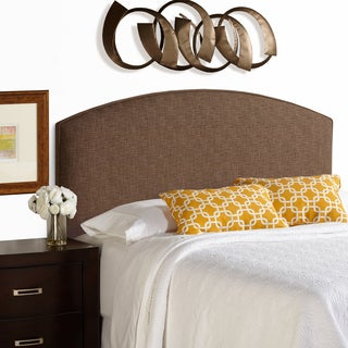 Humble + Haute Bingham Dark Chocolate Curved Upholstered Headboard