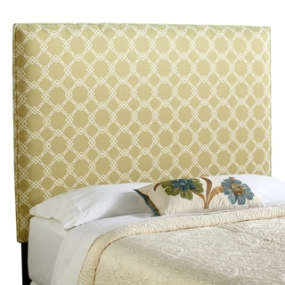 Humble + Haute Bingham Tall Full Size Green/ Ivory Upholstered Headboard