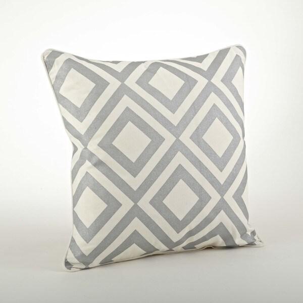 Printed Diamond Design Pillow 20-inch