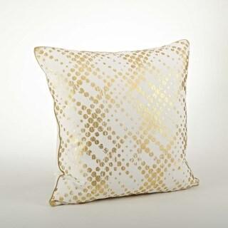 Metallic Foil Print Pillow - 20-inch