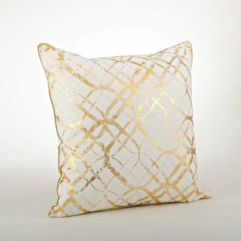Metallic Foil Print Throw Pillow