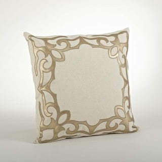 Faux Leather Cutwork Pillow - 18innch