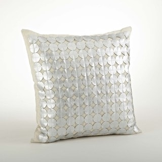 Circle Design Cutwork Pillow 18-inch