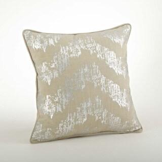Metallic Chevron Design Pillow-20inch