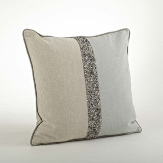 Two Tone Beaded Pillow