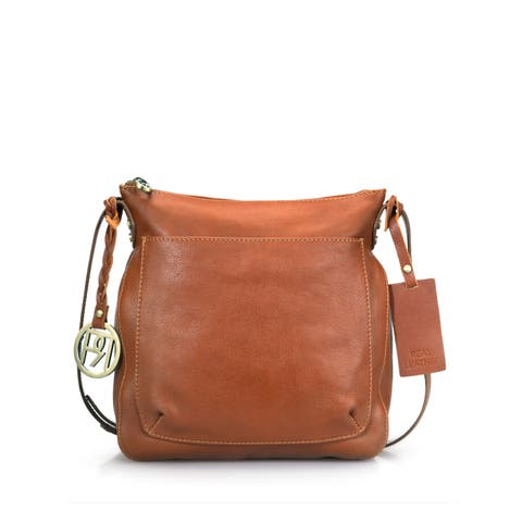 Handmade Phive Rivers Leather Crossbody Bag - PR974 - One size (India) - One size