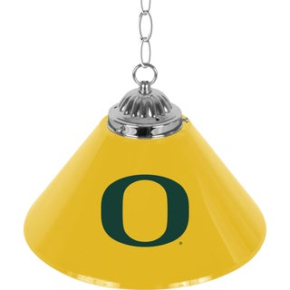 University of Oregon Single Shade Chrome Bar Lamp - 14 inch