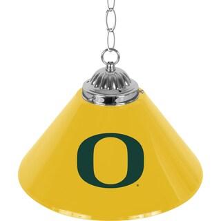 University of Oregon Single Shade Chrome Bar Lamp - 14 inch
