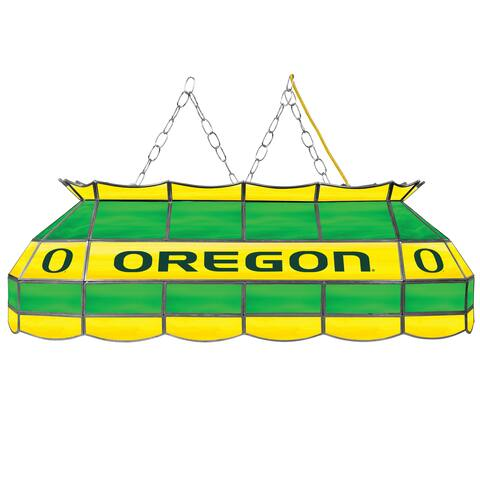 University of Oregon Handmade Tiffany Style Lamp - 40 Inch - University of Oregon