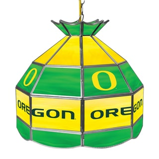 University of Oregon 16 Inch Handmade Tiffany Style Lamp