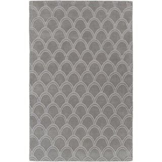 Hand-Loomed Harthrope Solid Wool Rug (9' x 13')