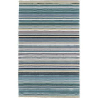 Hand-Loomed Evie Stripe Wool Rug (9' x 13')