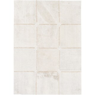 Hand-Crafted Thirsk Crosshatched Indoor Cotton Rug (2' x 3')