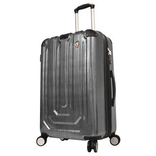 Mia Toro ITALY Spazzolato Metallo Hardside 26-inch Spinner Upright Suitcase