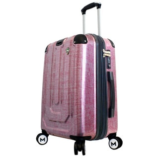 Mia Toro ITALY Macchiolina Polish 20-inch Hardside Spinner Carry-on Suitcase