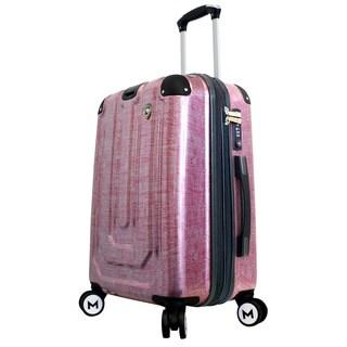 Mia Toro ITALY Macchiolina Polish 20-inch Hardside Spinner Carry-on Suitcase