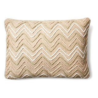 Miami Beige 22-inch Cotton Pillow