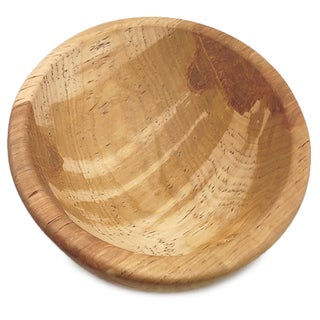 9-inch Clear Wooden Bowl