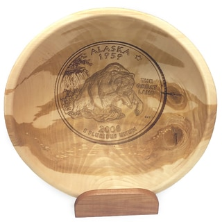 Great Alaskan Bowl Company Engraved 11-inch State Quarter Bowl