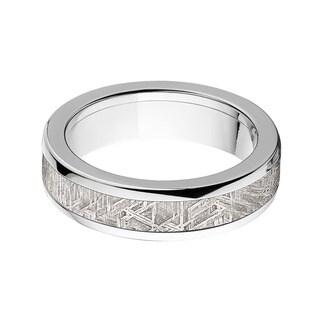 Titanium Half Round Meteorite Ring