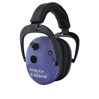 Pro Ears NRR 26 Predator Gold Hearing Protection and Amplfication Purple Contoured Ear Muffs