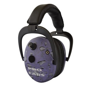Pro Ears NRR 26 Predator Gold Hearing Protection and Amplfication Purple Rain Contoured Ear Muffs