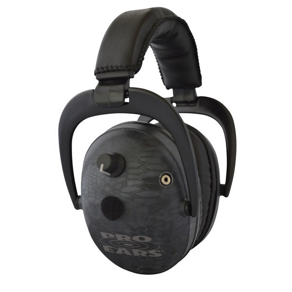 Pro Ears NRR 26 Predator Gold Hearing Protection and Amplfication Typhon Contoured Ear Muffs